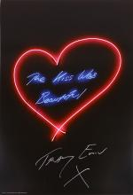TRACEY EMIN (BRITISH b.1963), 'THE KISS WAS BEAUTIFUL', 2016, offset lithograph in colours, signed in silver pen, from an edition of 500, published by Emin International, London, (sheet: 70 x 50cm)