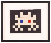 INVADER (FRENCH b.1969), '3D INVASION #14', 2012, ceramic and glass, consisting of 108 tiles total, signed, dated and numbered from an edition of 200 in pen to instructions verso, (30.5 x 36.5cm inc frame)