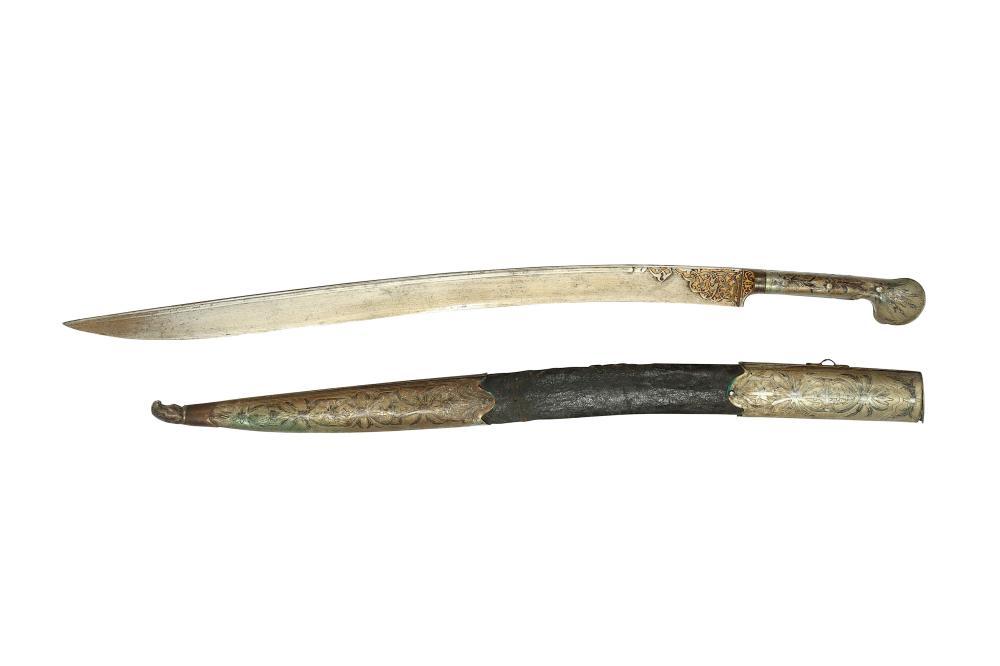 A BALKAN YATAGHAN SWORD WITH SCABBARD Ottoman Balkans, 19th century
