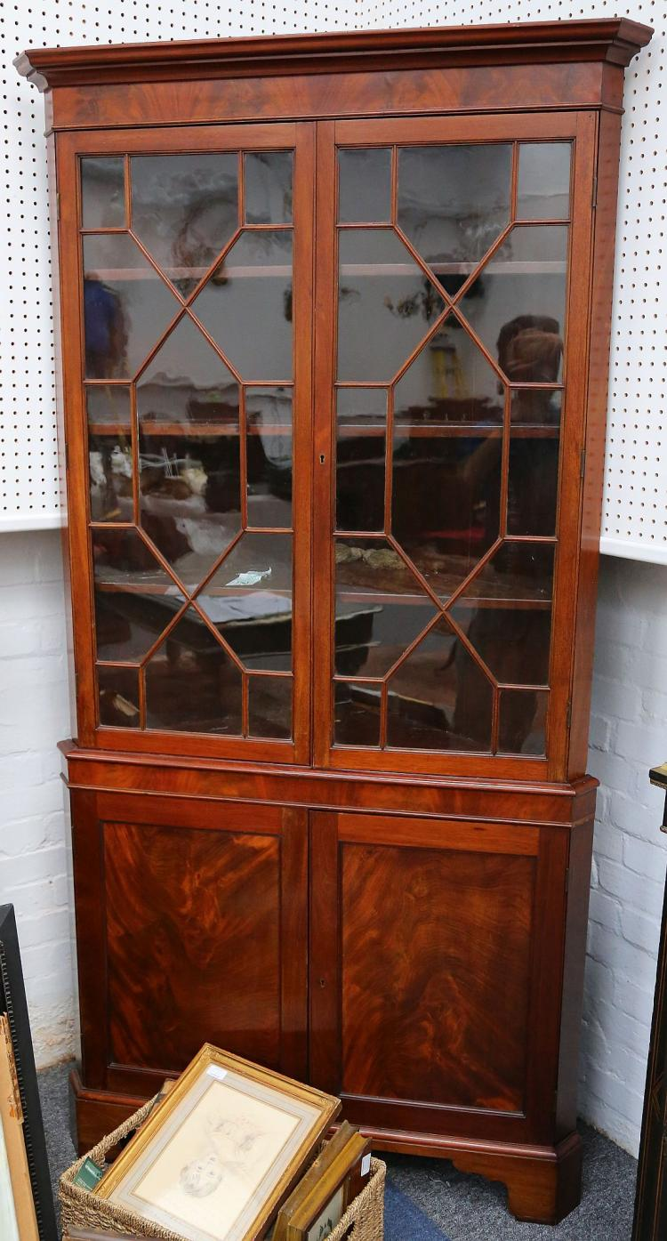 george iii mahogany 2 part standing corner cabinet the upper. Black Bedroom Furniture Sets. Home Design Ideas