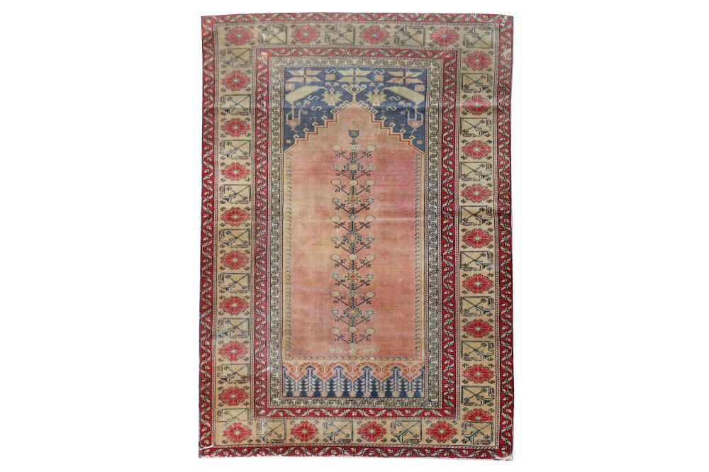 A FINE PANDORMA PRAYER RUG, TURKEY