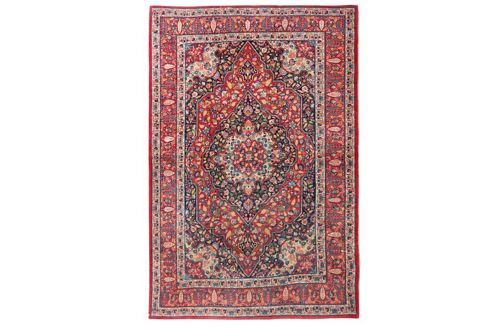 A FINE ANTIQUE TABRIZ HAJI-JALILI RUG, NORTH-WEST PERSIA