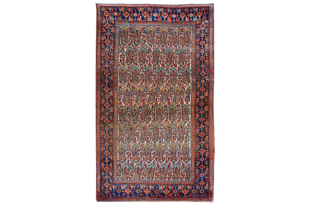 A FINE BIJAR RUG, NORTH-WEST PERSIA