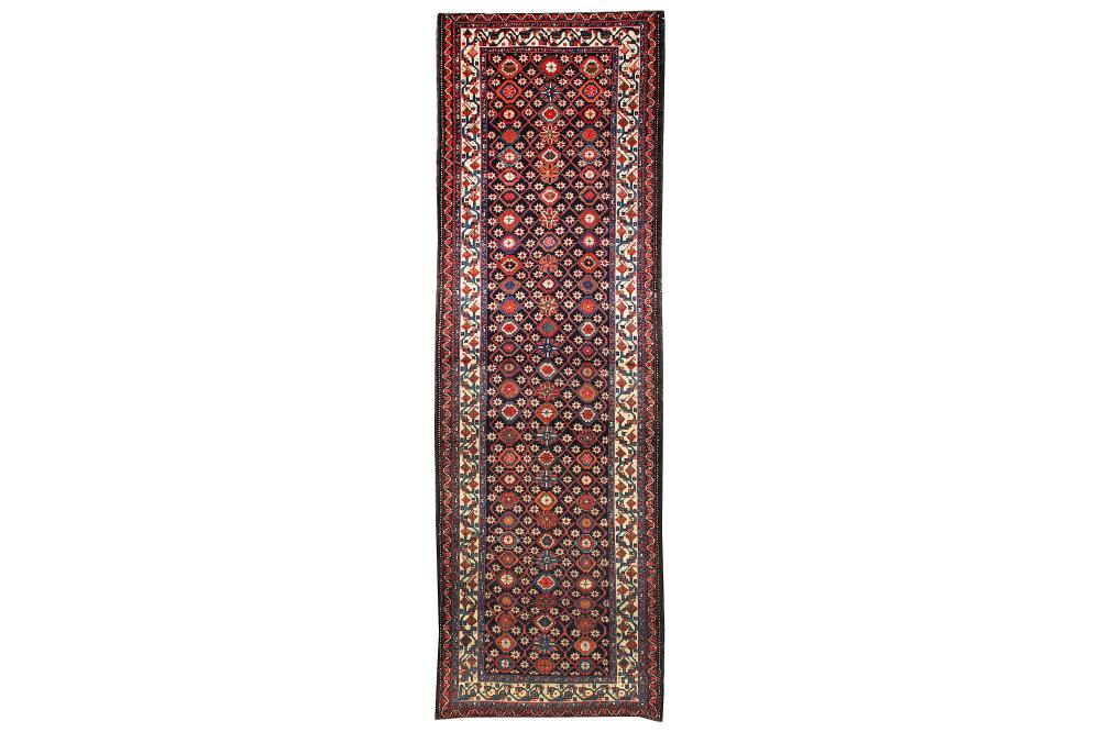 AN UNUSUAL ANTIQUE SHAHSAVAN NARROW KELLEH, NORTH-WEST PERSIA