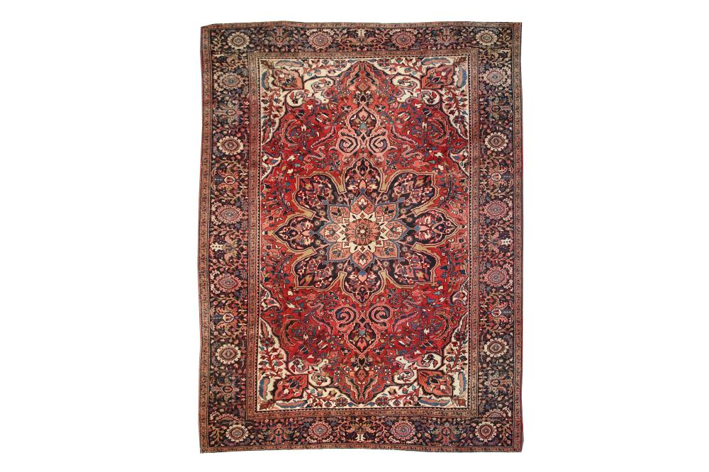 A FINE HERIZ CARPET, NORTH-WEST PERSIA