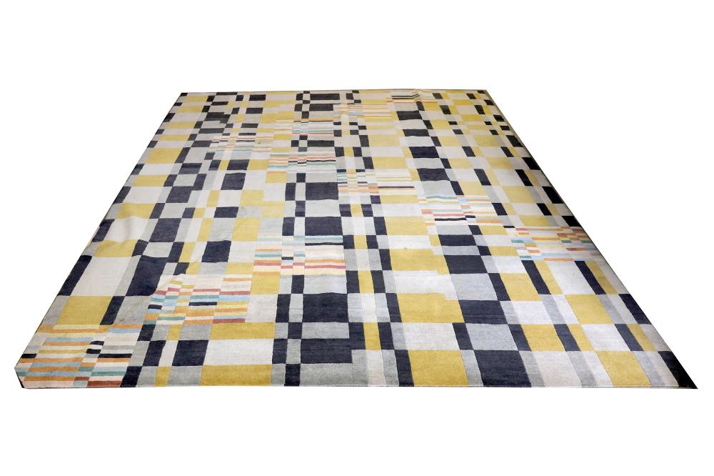 Rimo Designs Silk And Wool Geometric Rug
