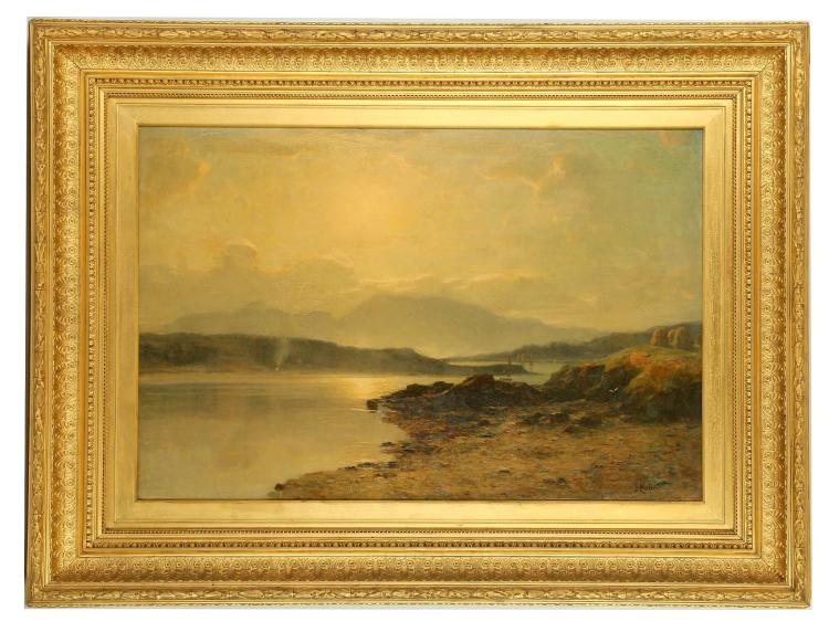 Duncan Cameron 1837 1916 The Hills Of Mull Fine Oil On C