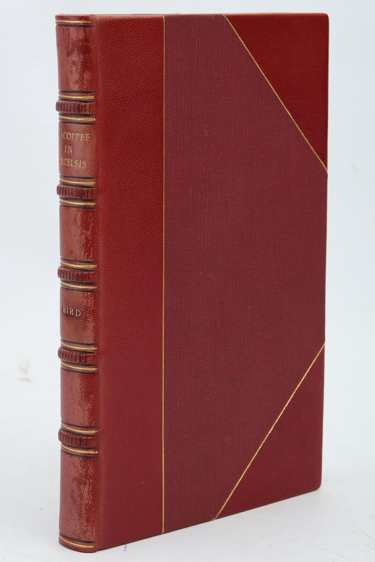 [?LUCAS, Samuel]. Dacoitee in Excelsis; or the Spoilation of Oude, by The East India Company. London: J. R. Taylor, [1857]. 8vo. (Occasional light spotting.) Later half morocco gilt by Aquarius (new endpapers, light rubbing to extremities). FIRST EDITION.