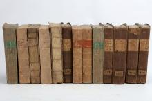 DOSIE, Robert (1717–77).  Memoirs of Agriculture, and other Oeconomical Arts. London: J. Nourse, 1768. 3 volumes, 8vo. (Occasional spotting.) Grey boards (rubbed, chipped). With a collection of other related works. The lot sold not subject to return. (19)