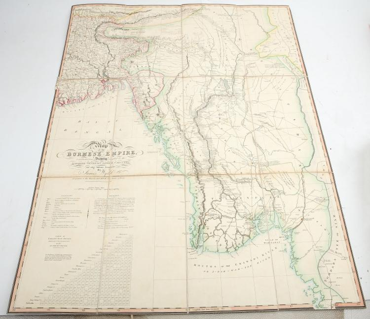 Map of the Burmese Empire Constructed from a Drawing Compiled in the Surveyor General's Office Calcutta...by James Wyld Geographer to His Majesty and H.R.H. The Duke of York. [No place: no publisher, n.d., although before 1837]. Folding hand-coloured
