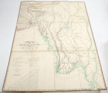 Map of the Burmese Empire Constructed from a Drawing Compiled in the Surveyor General's Office Calcutta...by James Wyld Geographer to His Majesty and H.R.H. The Duke of York. [No place: no publisher, n.d., although before 1837]. Folding hand-coloured engraved map, backed onto linen (light browning and spotting), 740mm x 570mm., slipcase. Provenance: From the Collection of the late Hans Fellner.