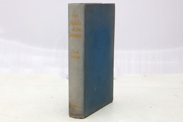 TRILLING, Lionel (1905-1975). The Middle of the Journey. New York: The Viking Press, 1947. 8vo. (Occasional light spotting). Original blue cloth upper board illustrated in blind (without dust-jacket, cloth lightly faded). PRESENTATION COPY: