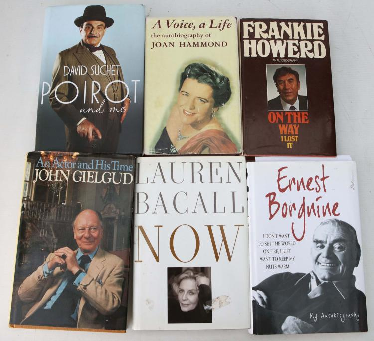 ENTERTAINMENT - A collection of signed works including Frankie Howerd's An Autobiography. On The Way I Lost It (London: W.H. Allen, 1976, PRESENTATION COPY, inscribed to