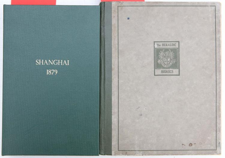 Sheng U Siang Chai, or Chinese Historical Illustrations, Shanghai: Tien Shih Chai, 1879. 8vo. Double-page illustrations with accompanying text under the images (occasional staining). Original green pictorial wrappers (small green paint marks to upper wrapper and light chipping, one corner creased). Provenance:
