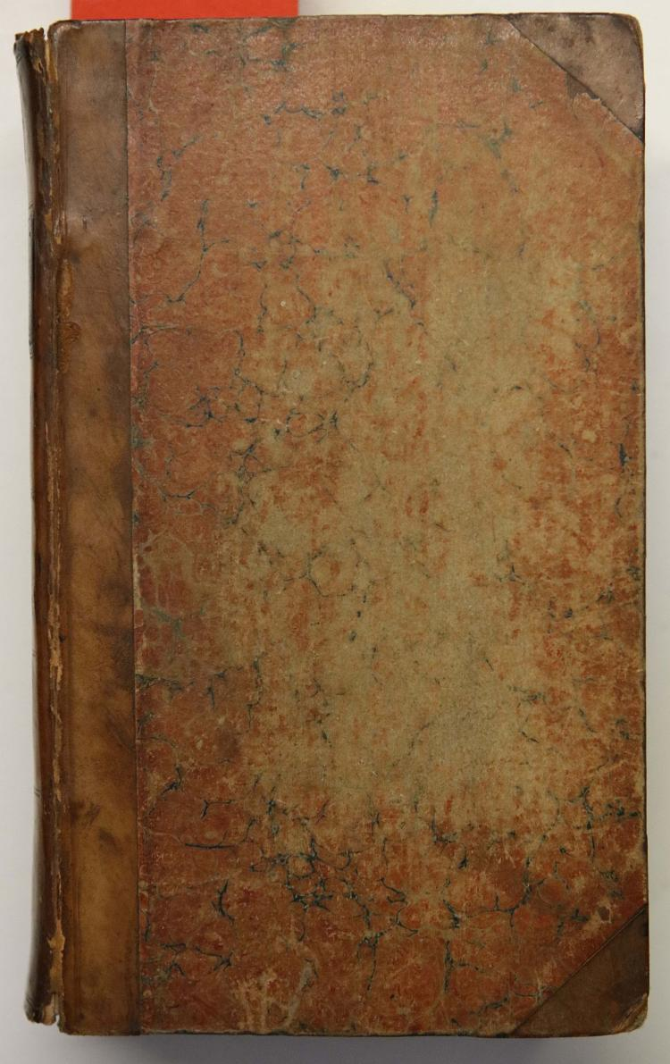 GODWIN, William (1756–1836).  Mandeville. A Tale of the Seventeenth Century. Edinburgh: Archibald Constable and Co., 1817. 3 volumes bound in one, 8vo. 2 of 3 half titles present (occasional light spotting). Contemporary half calf (rebacked, extremities rubbed). Provenance: