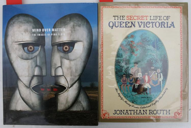 ROUTH, Jonathan.  The Secret Life of Queen Victoria. London: Sidgwick and Jackson, 1979. Folio. Original blue cloth, yellow illustrated dust-jacket. PRESENTATION COPY, inscribed,