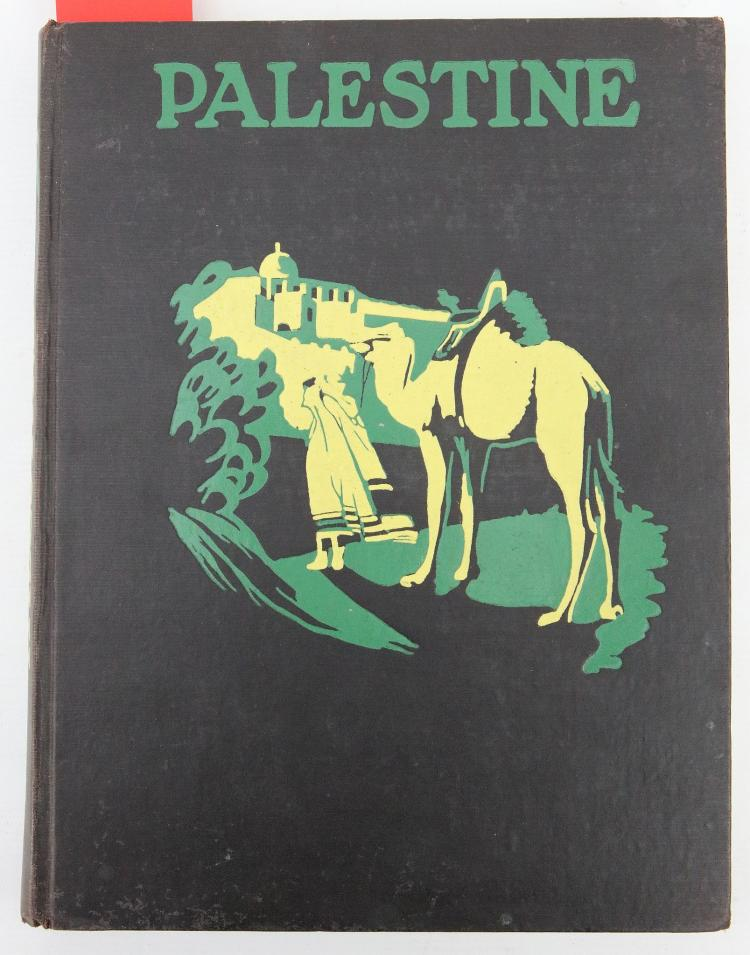 PREISS, Ludwig & Paul ROHRBACH.  Palestine and Transjordania. London: The Sheldon Press, 1926. Folio. Original black pictorial cloth (extremities rubbed). Provenance: From the Collection of Lord Edward Montagu of Beaulieu. FIRST EDITION.