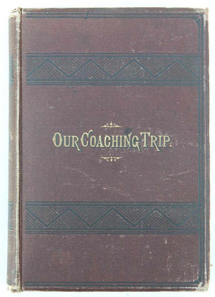 CARNEGIE, Andrew (1835-1919). Our Coaching Trip Brighton to Inverness. New York: [Privately published], 1882. 8vo. (Occasional light spotting). Original plum cloth, titled in gilt (rubbed, light fraying to extremities). PRESENTATION COPY: 'Mr Blair with compliments of the author'. Provenance: MS on folded page, loosely inserted: 'David D Blair was in 1936 a life trustee of The Carnegie Dunfermline and Hero Fund Trust and the Carnegie United Kingdom Trust'.