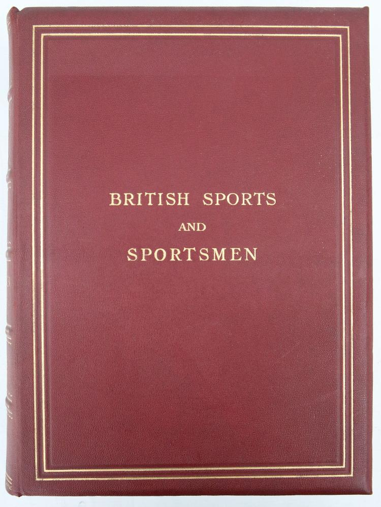 British Sports and Sportsmen Sportsmen of the Past. London: Sports and Sportsmen Limited, [n.d]. Folio. Engraved portraits (occasional light spotting). Publishers burgundy cloth, gilt (lightly rubbed).