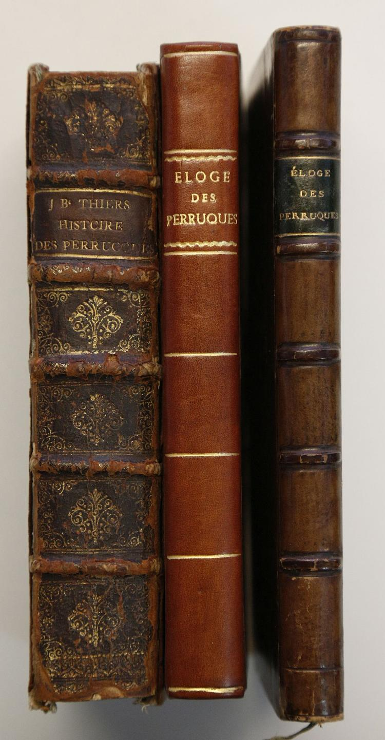 THIERS, Jean-Baptist (1636-1703). Histoire des Perruques ou l' on fait voir Leur origine, leur usage, leur forme, l' abus & l' irregularite de celles des Ecclesiastiques. Paris: