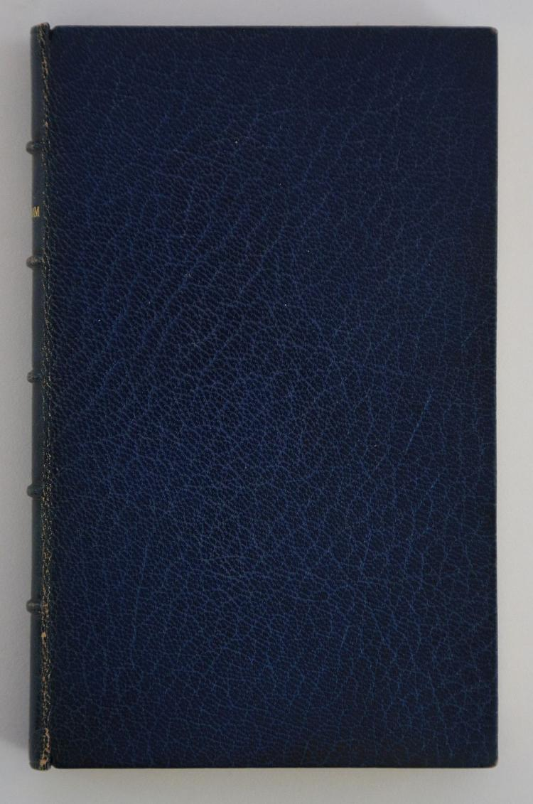 TENNYSON, Alfred Lord (1809-92). In Memoriam. London: Edward Moxon, 1850. 8vo. (Occasional light spotting.) Later blue calf, spine titled in gilt, dentelles (later endpapers, very lightly rubbed). FIRST EDITION.