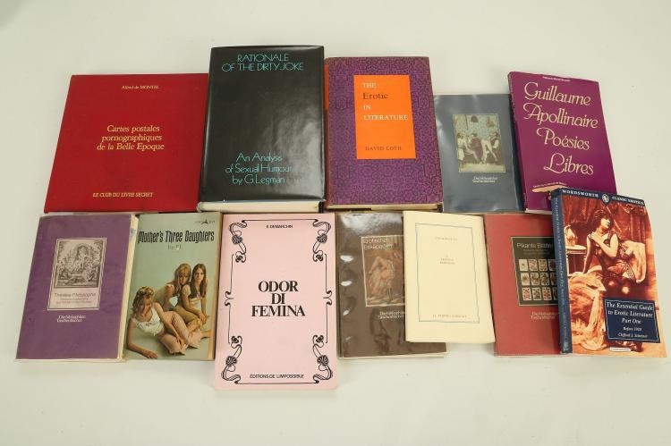 EROTICA - A quantity of books. (qty)