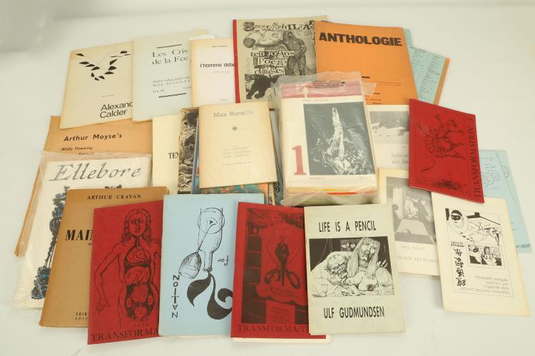 SURREALIST JOURNALS - including Anthologie No. 2 [No place: no publisher], [?1940], and a small collection of the journal Transformaction. From the Collection of the late John Lyle. (qty)