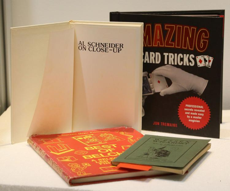 CONJURING & MAGIC - A collection of approximately 100 books on conjuring and magic, c. 1920-1980, including Quality Magic by Okito (London, [1921]), Harry Latour's Magical Suggestions (London, 1921), David Durant's Lessons in Conjuring (London, 1922, and many other titles by the same author), Jasper Maskelyne's White Magic (London, [n.d.]), John Brearley's Conjunioring[sic] (London, [n.d.]), Eric P. Wilson's The Art of Conjuring TO Children (London, [n.d.], with an inscribed photograph of the author loosely-inserted), Bert Douglas's Club Magic (London, 1930), Will Blyth's Effective Conjuring for Home Entertainments and Public Platforms (London, 1932, 2nd ed.), William G. Strickland's Wessex Wizardry (Elmhurst, 1931), Robert Parrish's For Magicians Only. A Guide to the Art of Mystifying (London, 1946), Tarbell Course in Magic (1948), Vic Oliver's Mr. Showbusiness (1954), Ron Bishop's Laughter all the Way (1968) and titles by Ali Bongo, Ken Brookes, Len Belcher, Billy McComb,