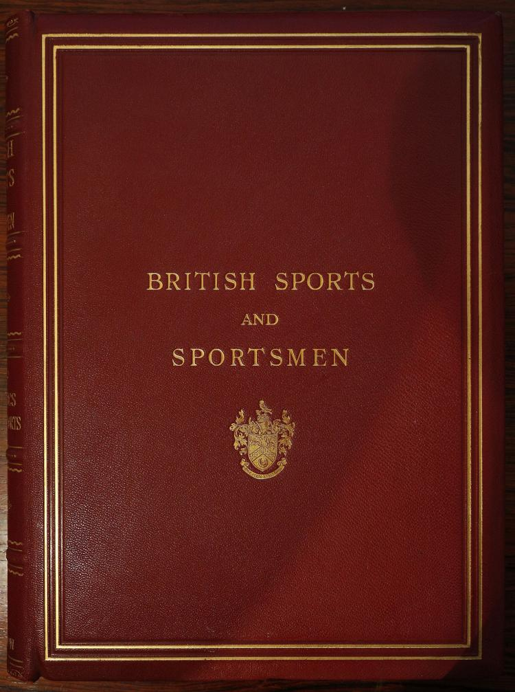 British Sports and Sportsmen Golf. Athletics Tennis. Hockey and Other Ball Games Winter Sports. London: Sports & Sportsmen Ltd., [n.d]. Folio. Monochrome photographic plates (occasional light spotting). Original publisher's red cloth, gilt (lightly rubbed). With another copy of the same book (cloth faded and sunned). With a collection of sports and miscellaneous works including W. C. A. Blew's Brighton and its Coaches (London, 1894). (qty)