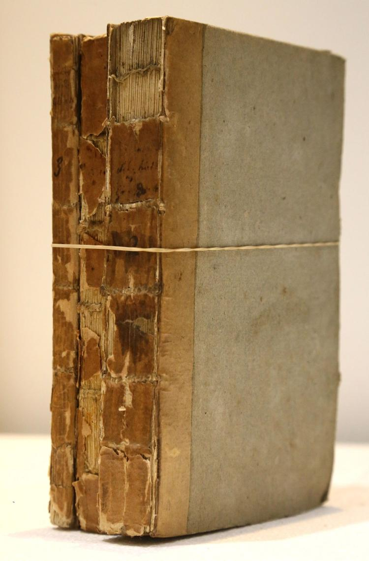 BERKENHOUT, John (1726–91).Outlines of the Natural History of Great Britain and Ireland. London: P. Elmsly, [1769-72]. 3 volumes, 8vo. (Occasional spotting.) Original boards (old clear tape/brown tape repair to spines, boards rubbed, joints splitting). SCARCE. (3)