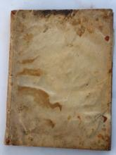 Ars Medica ex Hippocratis Galenique Thesauris Potissimum Deprompta. Venetiis: Paulum Meiettum, 1588. 8vo. (Occasional staining and spotting). Contemporary vellum, spine titled in an old handÊ(lightly soiled). A scarce early medical work. With one other work: ÊClaudius Minois' s Commentarii ad Emblemata. [No place: no pub, 1610?]. 8vo. (Lacks all before A1, title page, pp.369-384, occasional soiling and spotting). Contemporary calf (boards detached, worn).Ê(2)