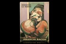 BACON, Francis (1909-92).Derrière le Miroir, no. 162. France: Maeght, 1966. Folio.7 chromolithographs (including front cover) illustrations. Originalillustrated wrappers(chipping to the spine). Provenance: Inscribed separately by Muriel Belcher and Henrietta Moraes and dedicated 'To Tom Tit'.
