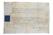 George III, King of England   Royal warrant signed ('George R'), on vellum, appointing William Henry Milnes