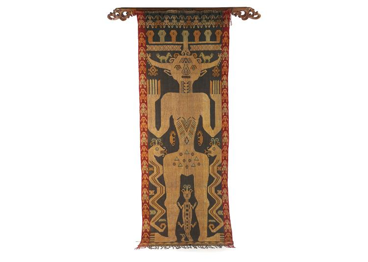 An East Sumba ancestor banner, circa 1950, and a M