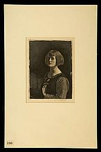 GERALD LESLIE BROCKHURST 1890-1978. 'Ranunculus'. Etching on cream wove paper, from the edition of 76 signed proofs, published September 1921. Signed in pencil. Mounted. Plate size 201 x 152mm (7.9 x 6 ins.), sheet size 318 x 250mm (12.5 x 9;8 ins.). Wright 25. Fletcher 25. This etching derives its name from the wild flower which is held by Anais, the artist's wife and model.