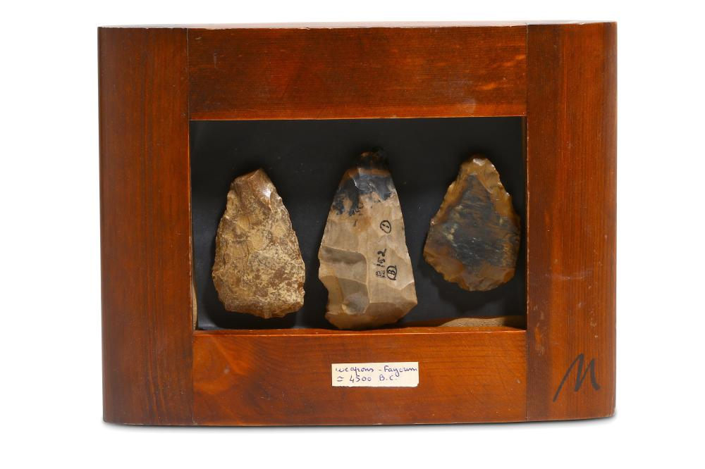 THREE PREDYNASTIC EGYPTIAN FLINTS
