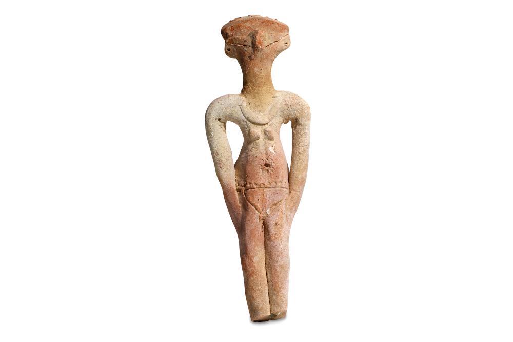 AN EGYPTIAN HYKSOS CONCUBINE FIGURE