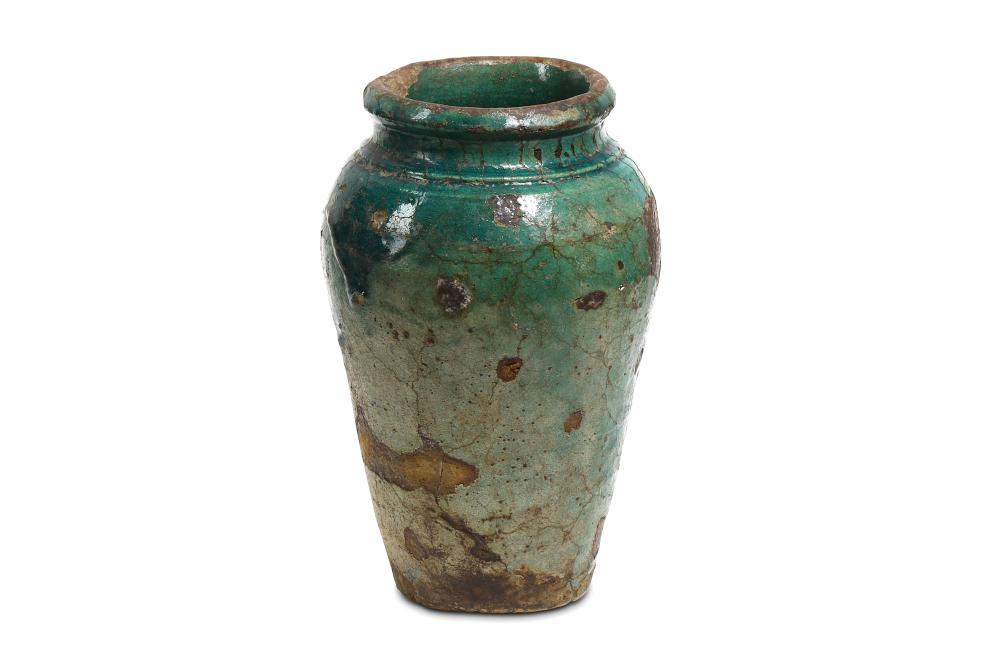 AN EGYPTIAN GLAZED JAR