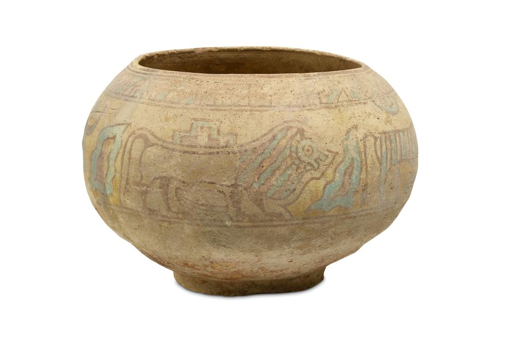 A LARGE POLYCHROME INDUS VALLEY BOWL