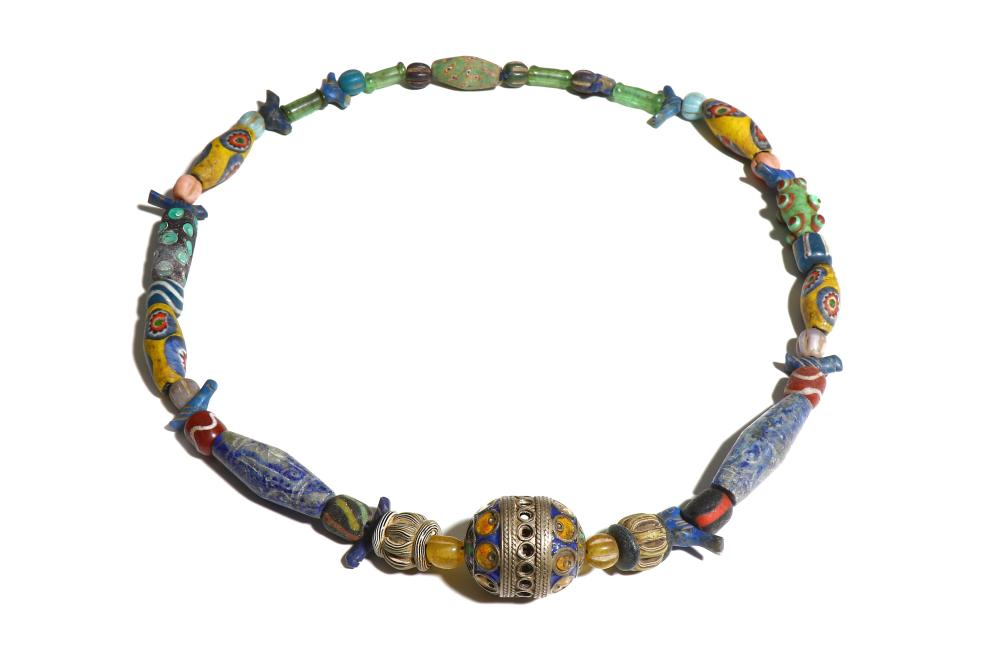 A BEADED NECKLACE