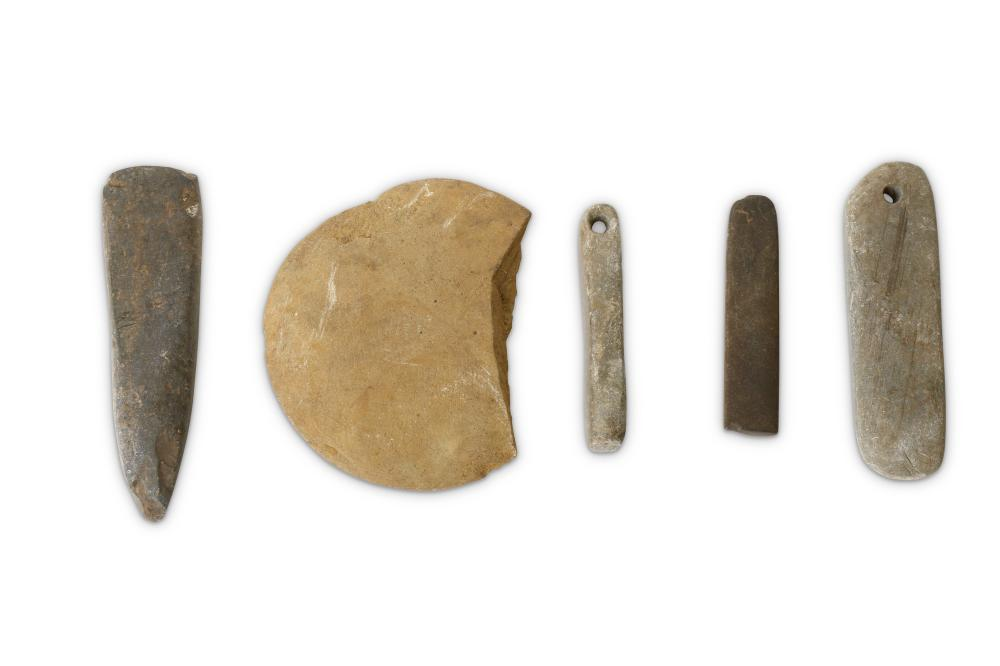 A GROUP OF NEOLITHIC STONE IMPLEMENTS