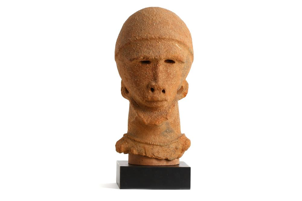 A TERRACOTTA SOKOTO HEAD, NIGERIA