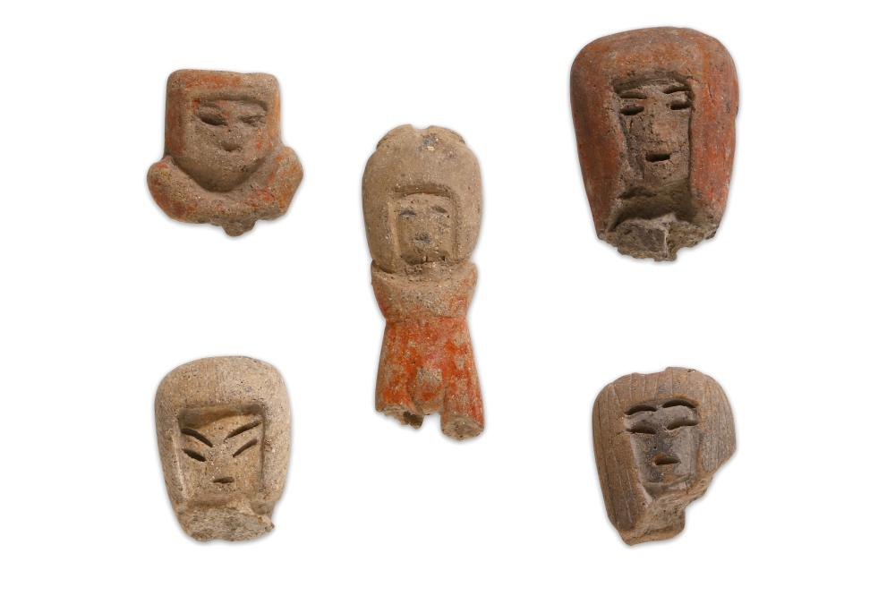 A GROUP OF VALDIVIA CULTURE TERRACOTTA FRAGMENTS