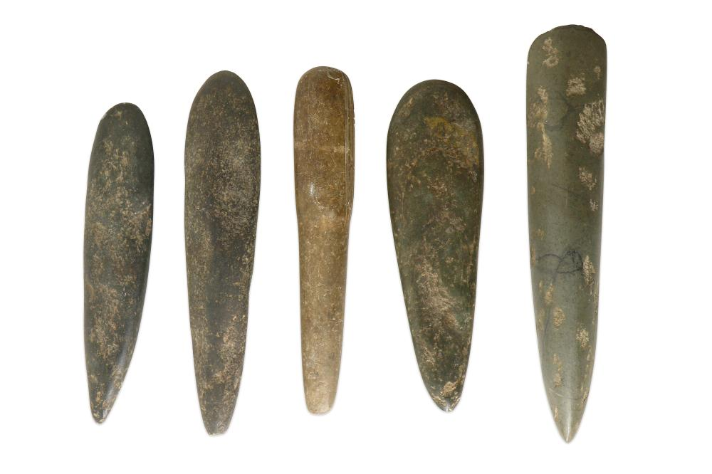 A GROUP OF HIGHLANDS AXE HEADS, PAPUA NEW GUINEA