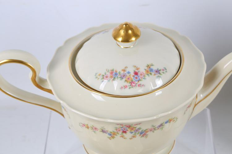 A Rosenthal porcelain Regina pattern part tea and coffee