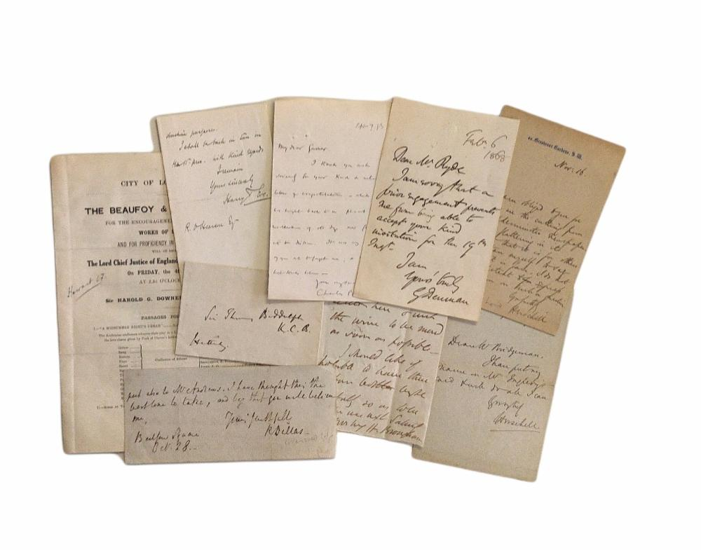 Autograph Collection.- Lawyers and Judges