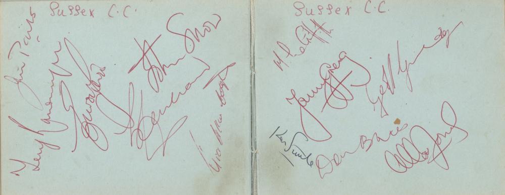 Autograph Album.- Cricket
