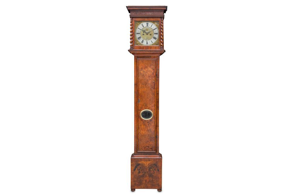 A LATE 17TH CENTURY WILLIAM III PERIOD WALNUT LONGCASE CLOCK SIGNED THOMAS WHEELER, LONDINI FECIT