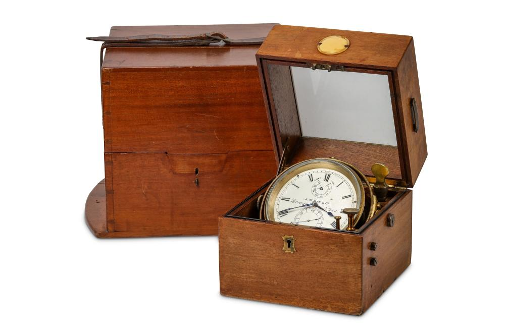 J.W. RAY & CO., (MAKERS OF THE TITANIC CHRONOMETER): AN EARLY 20TH CENTURY SHIP'S CHRONOMETER