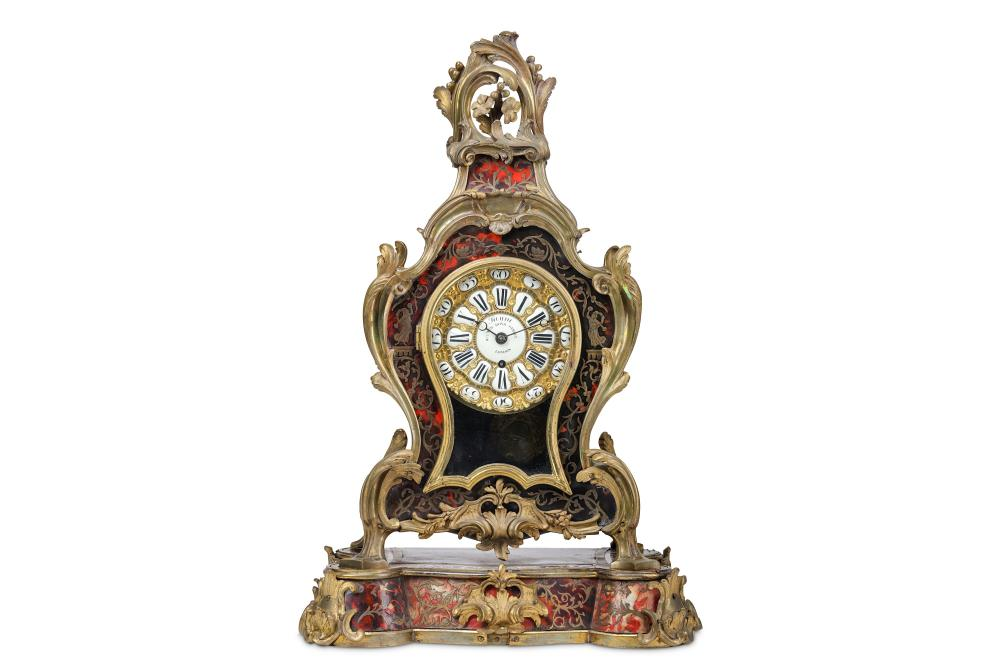 A RARE MID 19TH CENTURY ENGLISH 'BOULLE' STYLE TORTOISESHELL, CUT BRASS AND GILT BRONZE MOUNTED FUSE